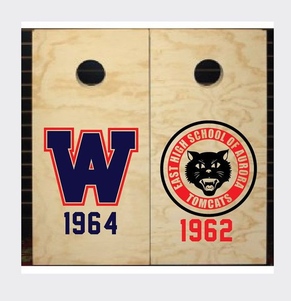Corn hole board custom decals for bean bag by sunseteastgraphix