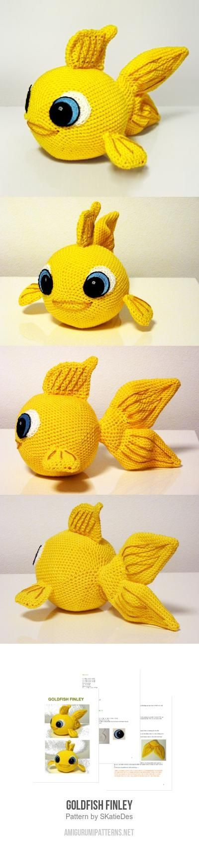 Goldfish Finley Amigurumi Pattern