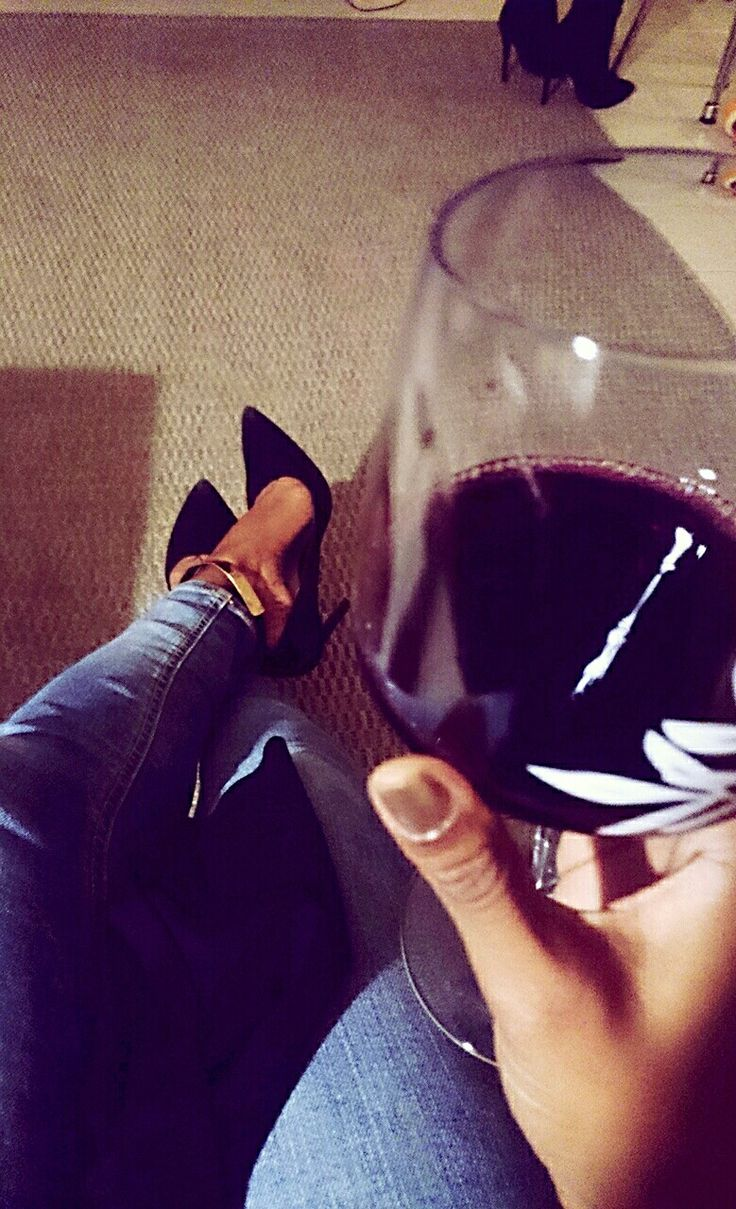 Winter love #redwine #heels