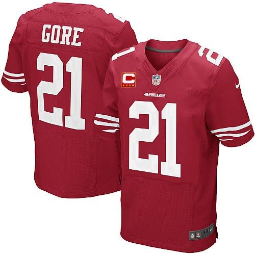 Frank Gore Elite Jersey-80%OFF Nike C Patch Frank Gore Elite Jersey at 49ers Shop. (Elite Nike Men's Frank Gore Red C Patch Jersey) San Francisco 49ers Home #21 NFL Easy Returns.