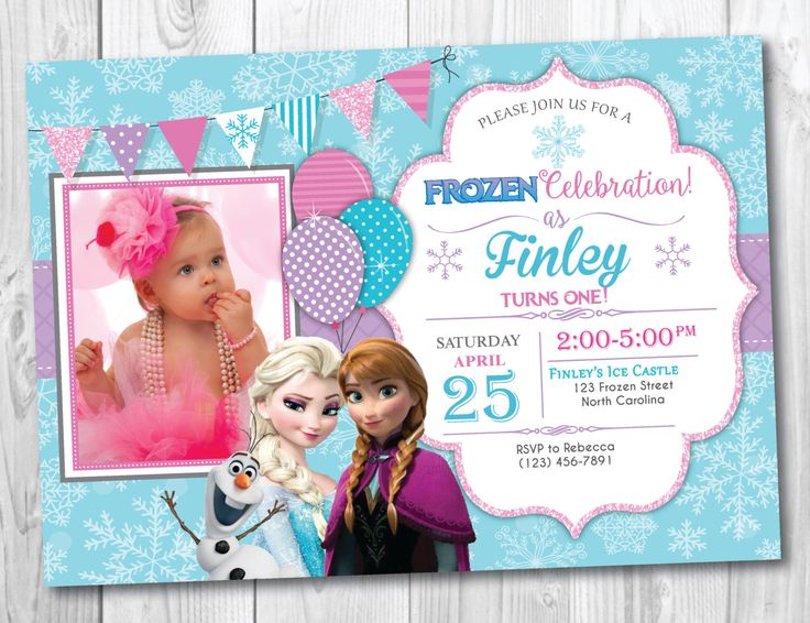Frozen Birthday Invitation Printable With Photo, Frozen Birthday Party Invites, Elsa and Anna Birthday, Olaf Birthday by YourMainEventPrints on Etsy https://www.etsy.com/listing/225868581/frozen-birthday-invitation-printable