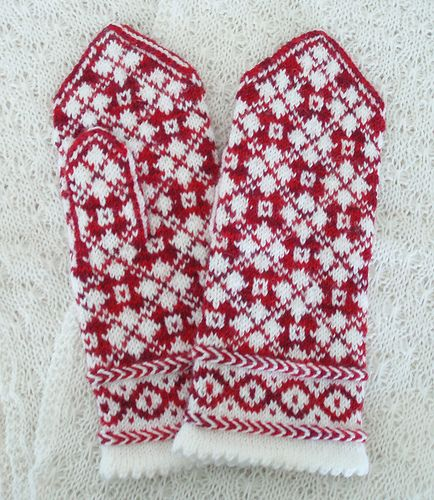 red-white mittens