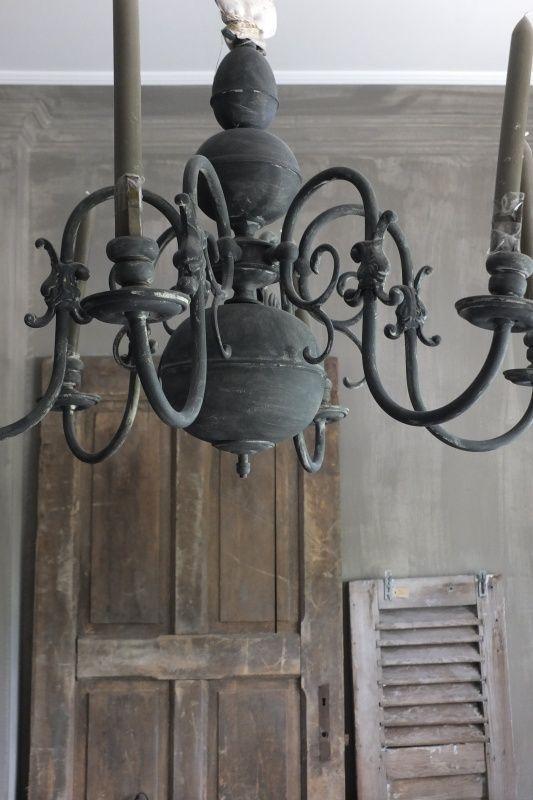 Kroonluchter koper - kleur Graphite | - Annie Sloan voorbeelden | Styling & Living