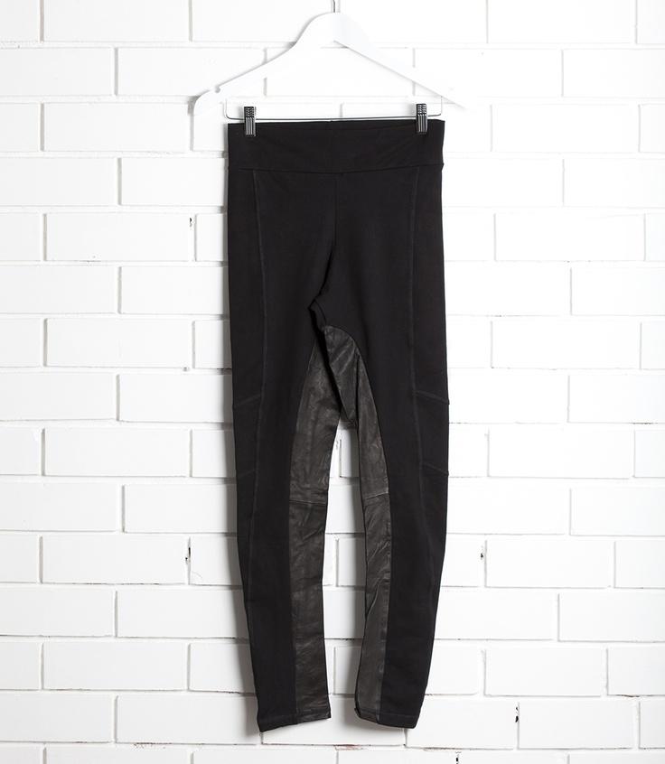Sancerre leather/lycra leggings  Available at sweetjojos.com
