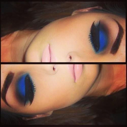 makeup electric blue
