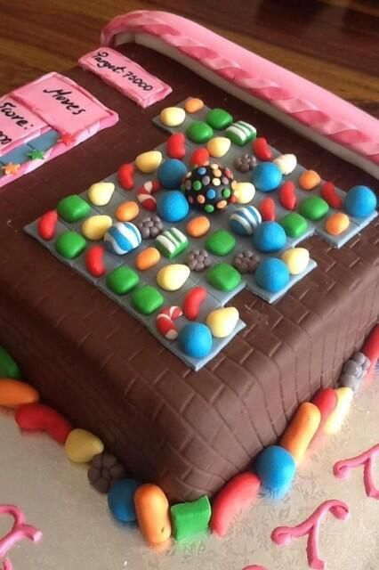 Candy Crush Saga cake for all of my ADDICTED friends :) mom