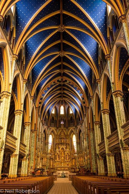 Notre Dame Basilica, Ottawa, Canada.   For more information on Ottawa visit www.ottawatourism.ca