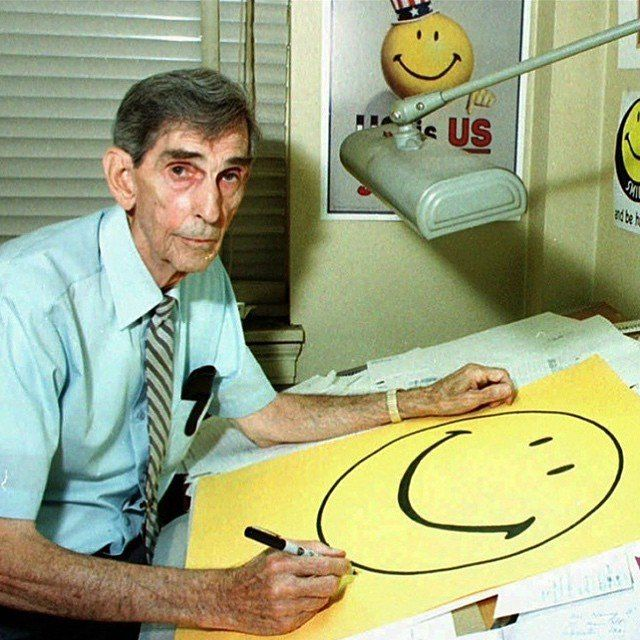 Meet Harvey Ross Ball. ~1963 he invented the smiley face ...