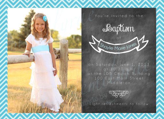7 best LDS Baptism Invitations images on Pinterest Baptism