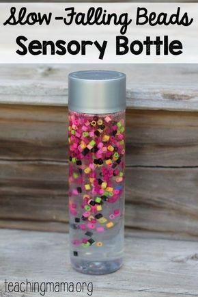 Sluggish-Falling Beads Sensory Bottle
