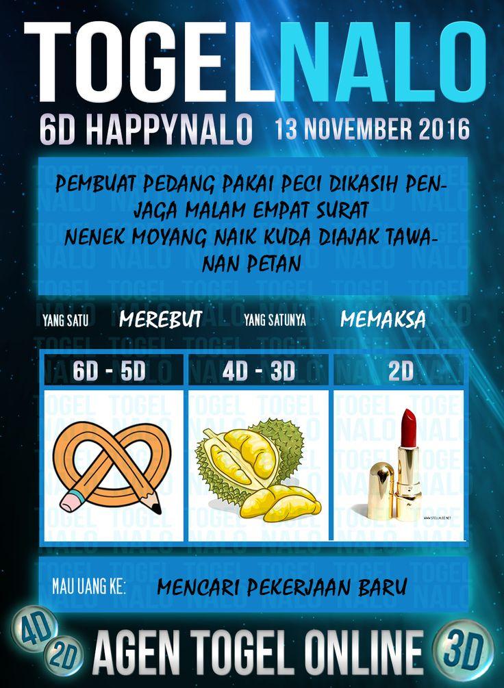 Buku 3D Togel Wap Online Live Draw 6D Kupon HappyNalo Jakarta 13 November 2016