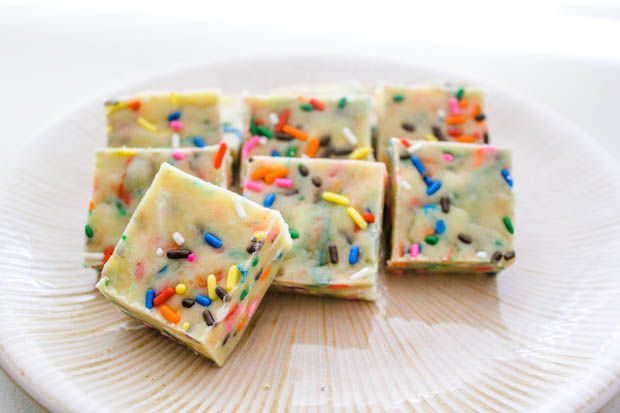 Cake Batter Fudge - so easy.