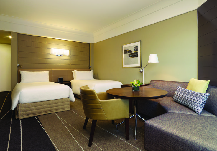 Our rooms include floor-to-ceiling windows feature views of the city