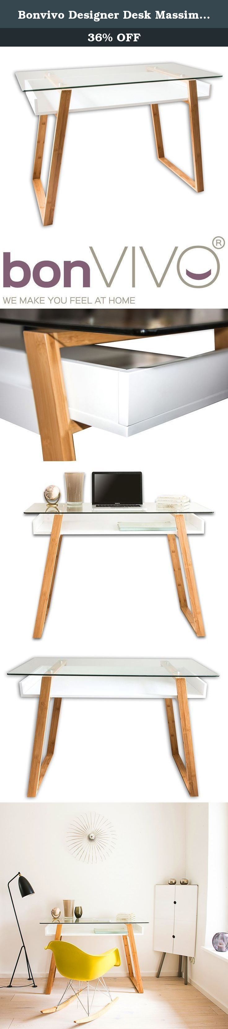 Bonvivo Designer Desk Massimo, Modern Secretary In A Contemporary Design. BonVIVO® stands for modern furnishings and lifestyle concepts for individualists who value quality and intelligent contemporary design. BonVIVO® brand furniture offers trendsetting design with classic style and timeless versatility. With MASSIMO you have the ideal piece of furniture for your home office. Whether as a desk in the study, secretary in the living room, or console in the foyer, MASSIMO is a real…