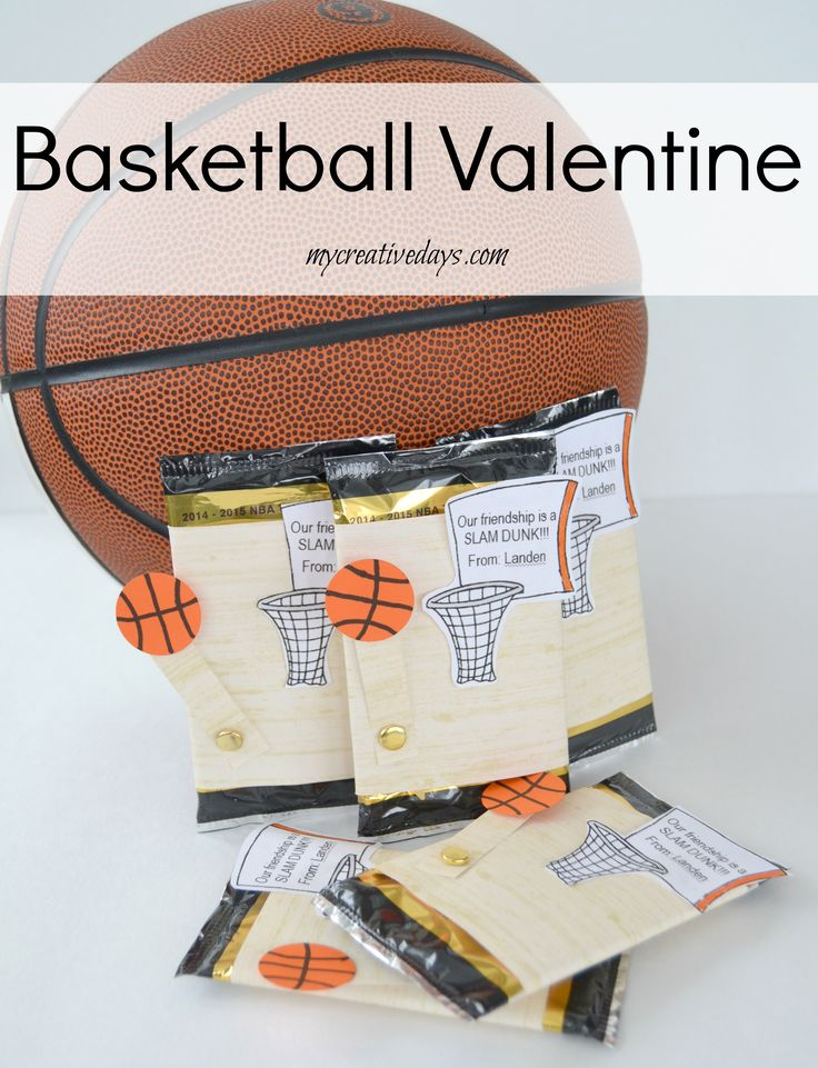 Basketball Valentines with a Free Printable!