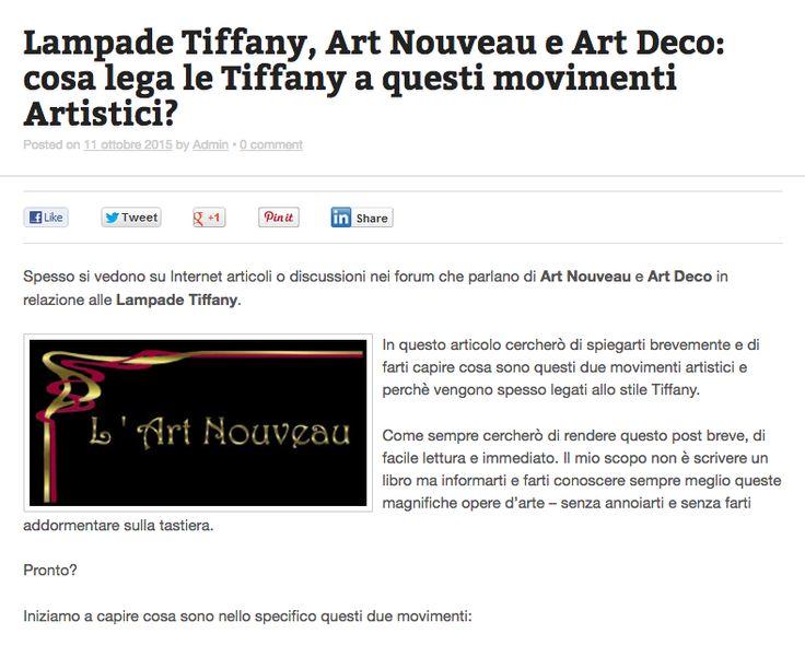 Lampade tiffany Art Nouvea e Art Deco: cosa lega le Lampade Tiffany con questi due movimenti artistici? Scoprilo qui --> http://tiffanysicuro.it/blog/lampade-tiffany-art-nouveau-art-deco/