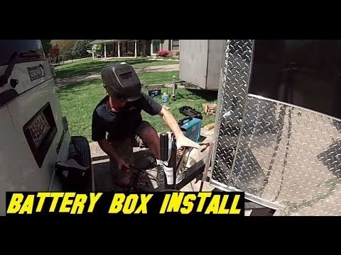 Battery box and Harbor Freight Solar Controller Installation ....6x10 Enclosed Trailer Conversion - YouTube
