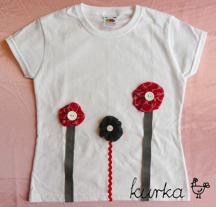 koszulka handmade by kurka - czarny czerwony