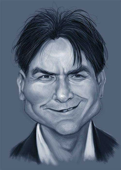 Charlie Sheen sketch by ~markdraws on deviantART