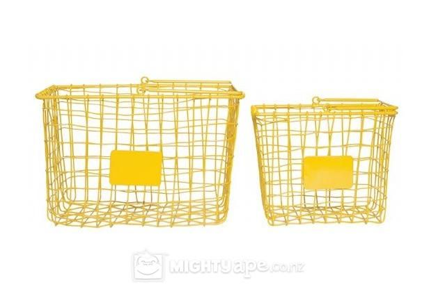 General Eclectic Shop Baskets Set of 2 (Yellow)