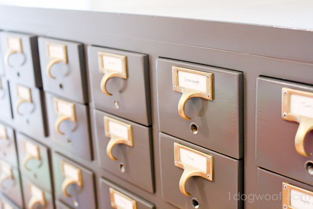 Card Catalog Split in Two...an awesome upcycle!