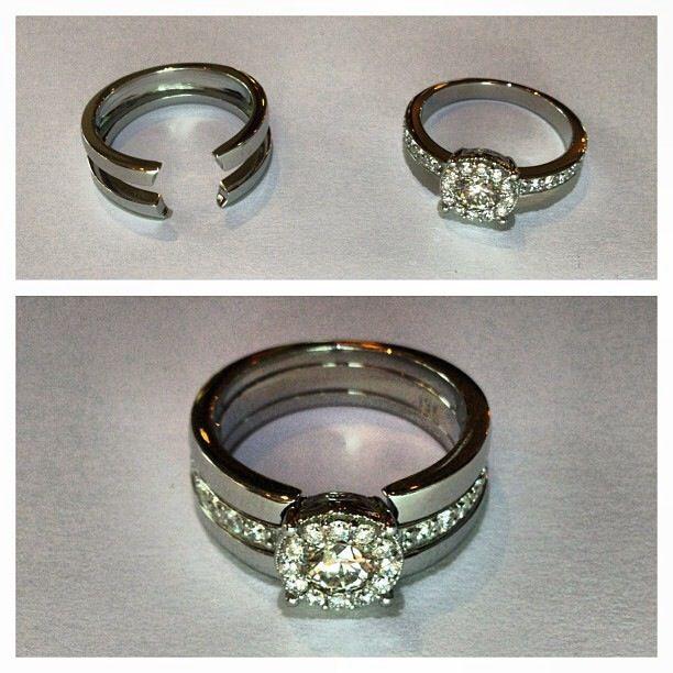 19 karat white gold custom made jacket - Wedding Ring Jackets