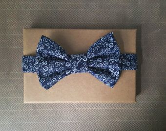 Navy Bow Tie, Ring Bearer Bow Tie, Navy Wedding, Boy's Bow Tie, Children's Bow Tie, Custom Bow Tie, Wedding Bow Tie, Ring Bearer, Bow Tie