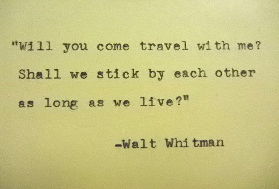 WALT WHITMAN Quote Typed on Typewriter by PoetryBoutique on Etsy, $9.00