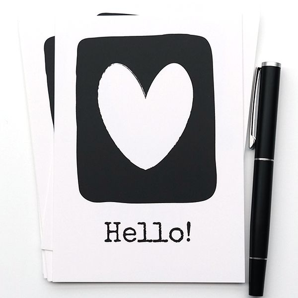 Ansichtkaart uit de webshop: Hello.