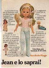advertising Pubblicità - LISA JEAN BAMBOLA DI 15 ANNI FURGA
