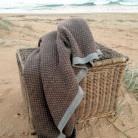 Wonga Road Baby Alpaca Throw Blanket – Taupe & Grey $220