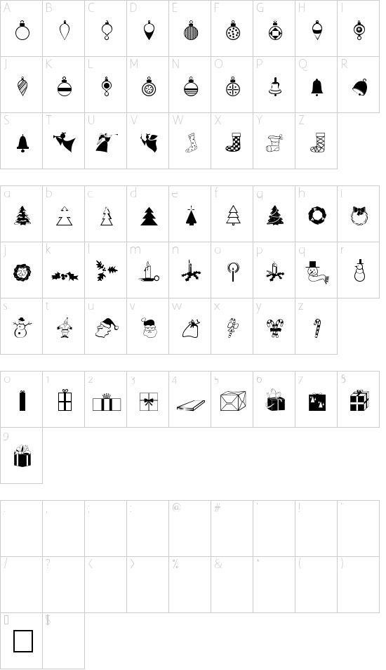 XmasDings Font