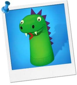 Dragon Sock Puppets... have the kids make them to take home as party favors!