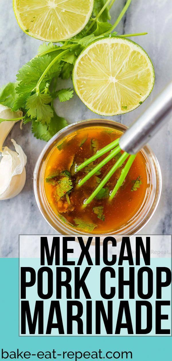 This Mexican pork chop marinade is easy to mix up and adds so much flavour to yo…