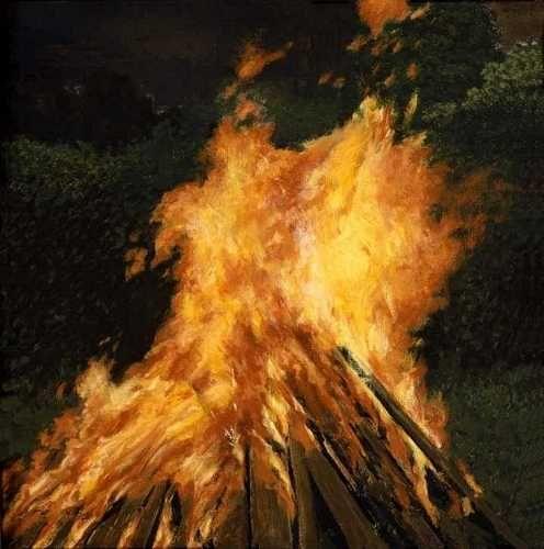 The Bonfire, 2000 by David Inshaw