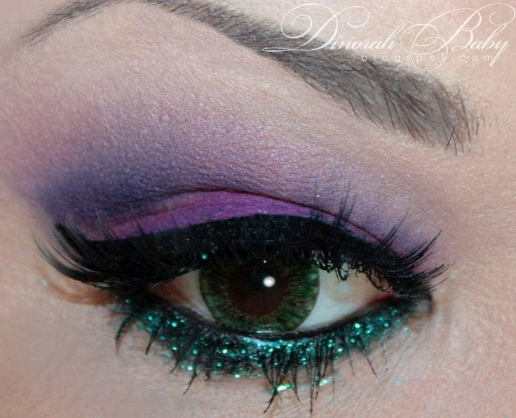 The little mermaid inspired makeup