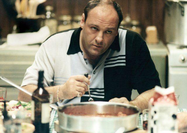 Still of James Gandolfini in The Sopranos.....forget about it