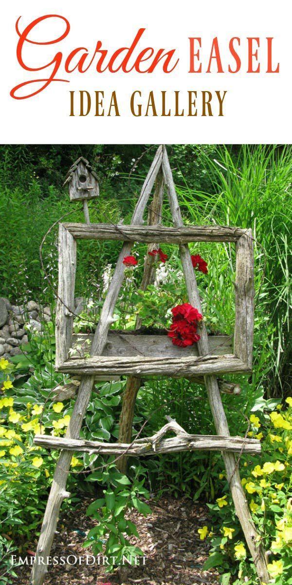 Verwenden Sie Gartenkunst-Staffeleien, um Ihrem Garten eine einzigartige künstlerische Note zu verleihen. #gardenart #g