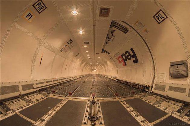 Το εσωτερικό ενός Boeing 757 της Fedex