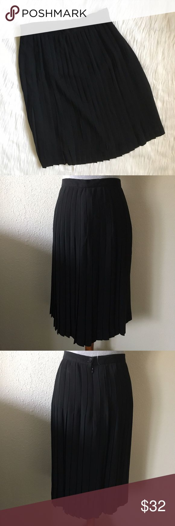 New Lauren Ralph Lauren Black Pleated Midi Skirt new lauren ralph lauren black pleated midi skirt. micro pleated midis are so in! fully lined. easy to use in any season! tag was taken off but the plastic attachment is still in tact. show pinned on the mannequin who's measurements are 34-26-35. measurements: waist (across)- 15 inches / length- 26 inches. 10% off bundles of 2 items and 15% off bundles of 3+ items. Lauren Ralph Lauren Skirts Midi