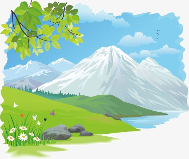 Beautiful Scenery Natural Landscape Beautiful Png And Vector With Transparent Background For Free Download Nature Vector Scenery Vector Background