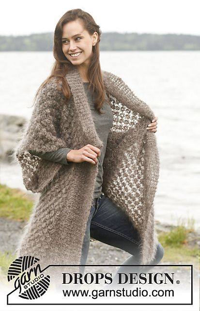 Ravelry: 150-41 Sheer Bliss - Jacket with blackberry pattern and shawl collar in Vienna pattern by DROPS design