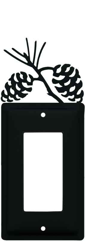 Pine Cone Black Light Switch Plates, Outlet Covers, Wallplates