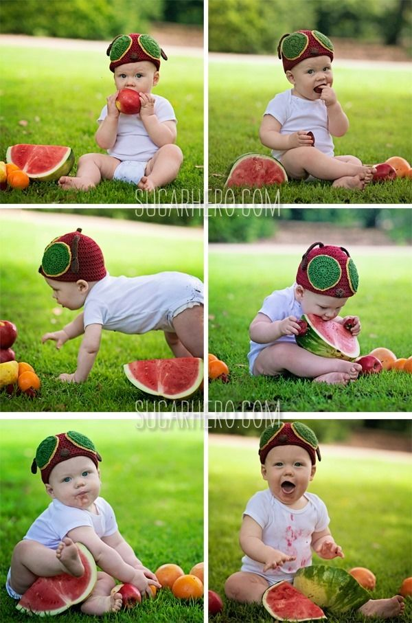 Very Hungry Caterpillar Party Ideas: Pose with fruit from the caterpillar book