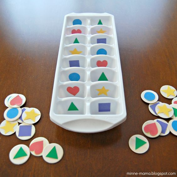 Shape Sorting! A perfect activity for toddlers to work on shapes!