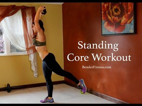 15 Minute Standing Abs Workout: No Crunches - YouTube