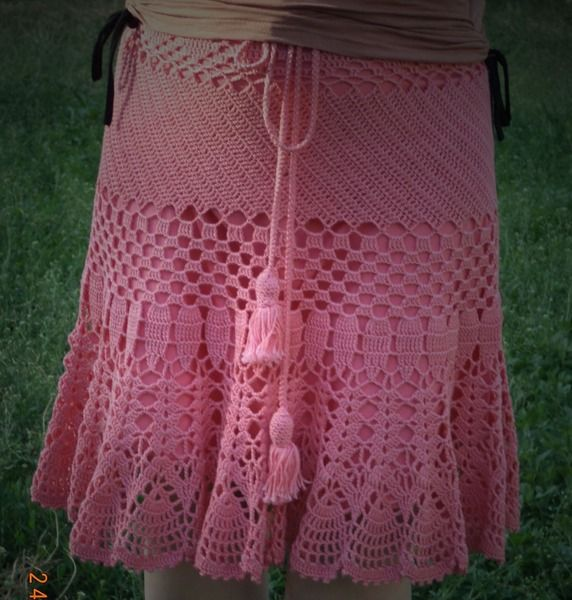 "Skirt ""Caral"" from Crocheted booties, blanket, exclusive garments are handmade   LyudmilaHandmade by DaWanda.com"