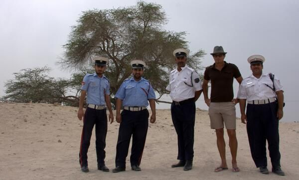 Storytelling Expedition through the Middle East. After The Emirates and Quatar, I'm now in Bahrain. On my way to 'Oil Well Number One' I was stopped by the police.    http://storify.com/maartenschafer/storytelling-expedition-mea
