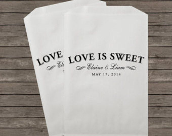 Wedding Favor Bags, Candy Buffet Bags, Candy Bar Bags, Favor Bags, Personalized Wedding Favor Bags, Treat Bags, Custom Favor Bags, Kraft 28