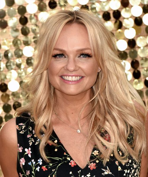 Emma Bunton Hairstyle - Long Wavy Formal - Light Blonde